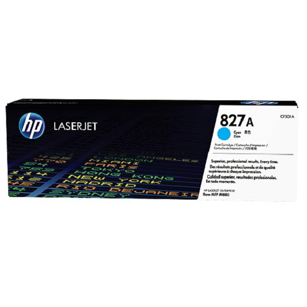 Hewlett Packard [HP] 827A LaserJet Toner Cartridge Page Life 32000pp Cyan Ref CF301A