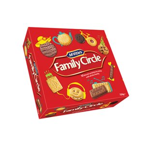 McVities Family Circle Assorted Biscuits 720g (Pack of 1) Ref A07942